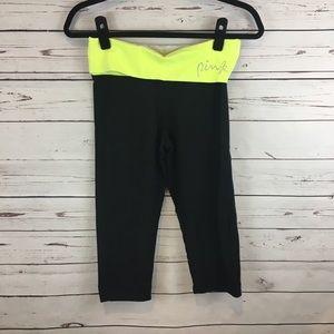 Two pairs of PINK Yoga capris leggings